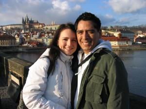 Kristyna and Steve at Charles bridge
