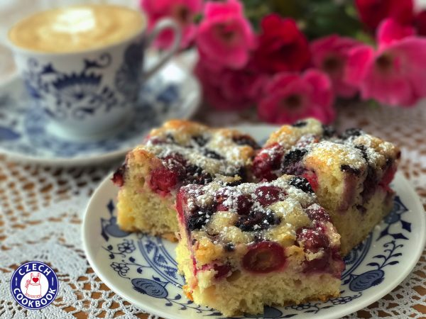 Fruit Coffee Cake Bublanina Czech Cookbook Video